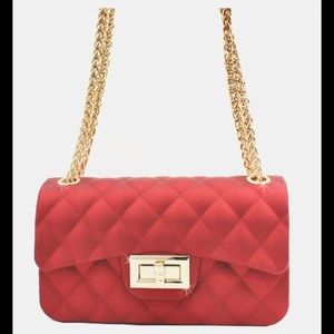 Handbags - 🌹RED🌹QUILTED  Jelly Crossbody/Shoulder Bag NWT🏷